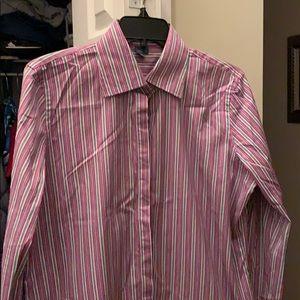 Ralph Lauren button shirt purple green blue white